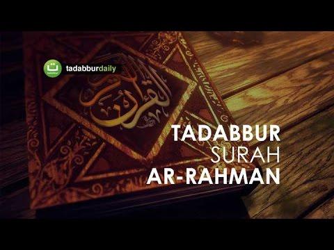 Tadabbur Surah Ar-Rahman ayat 1-34