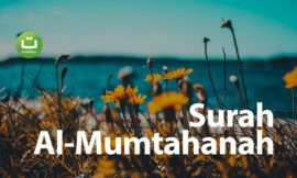 Surah Al Mumtahanah سورة الممتحنة – Mishari Rasyid Al-Afasy