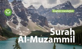 Surah Al-Muzammil English translation Beautiful Quran Recitation