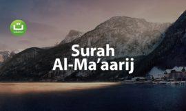 Surah Al-Ma'aarij Merdu – Said Al Khatib ᴴᴰ