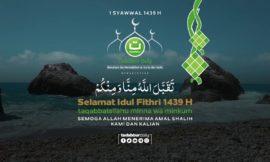 Gema Takbir Selamat berhari raya Idul Fithri 1439 H